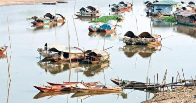 Mekong-Delta - kleine Boote am Mekong-Delta