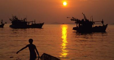 Mekong-Delta - Mekong-Delta bei Sonnenuntergang