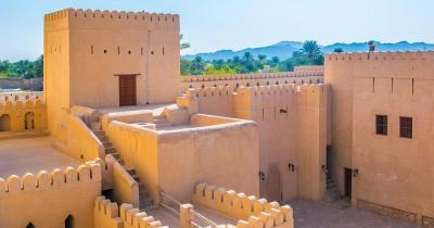 Festung von Nizwa - Nahaufnahme der Festung von Nizwa in Oman