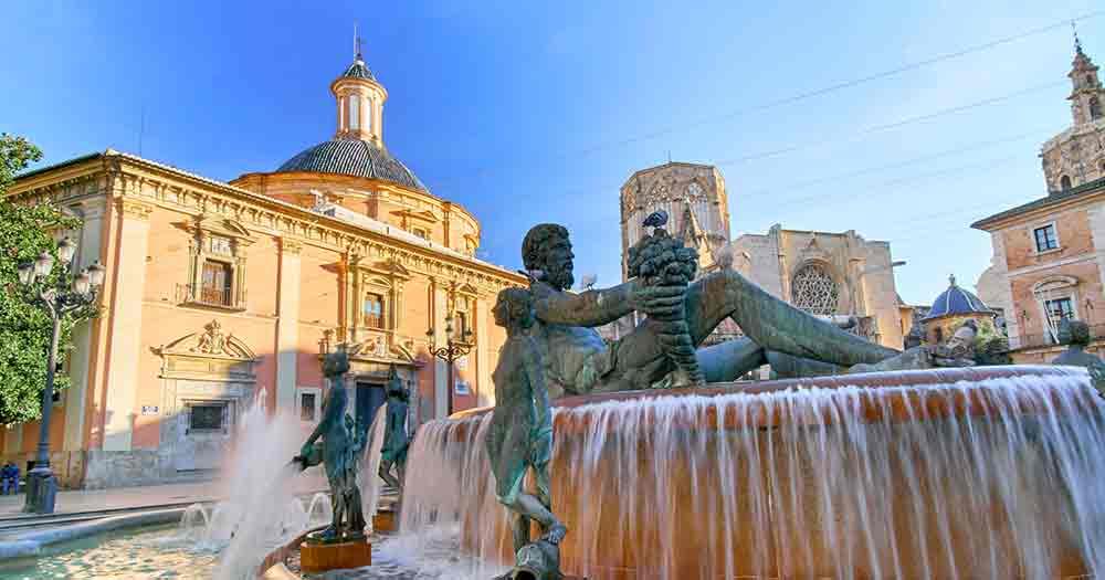Valencia - Platz von Sankt Marien