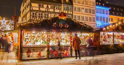 Christkindelsmärik - Verkaufsstände am Weihnachtsmarkt