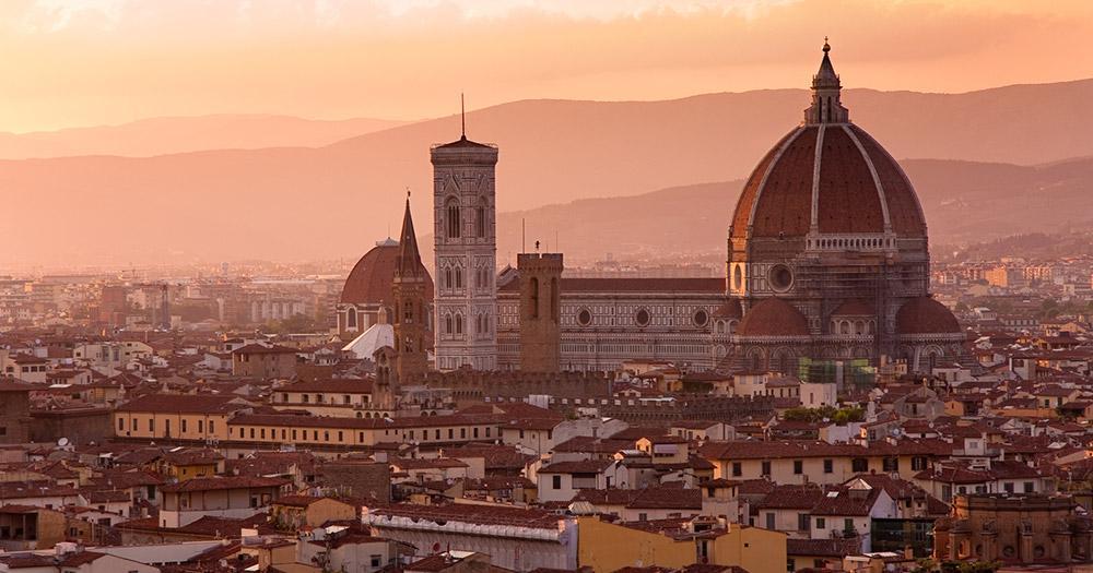 Mit dem Auto durch Italien - Florenz in Italien