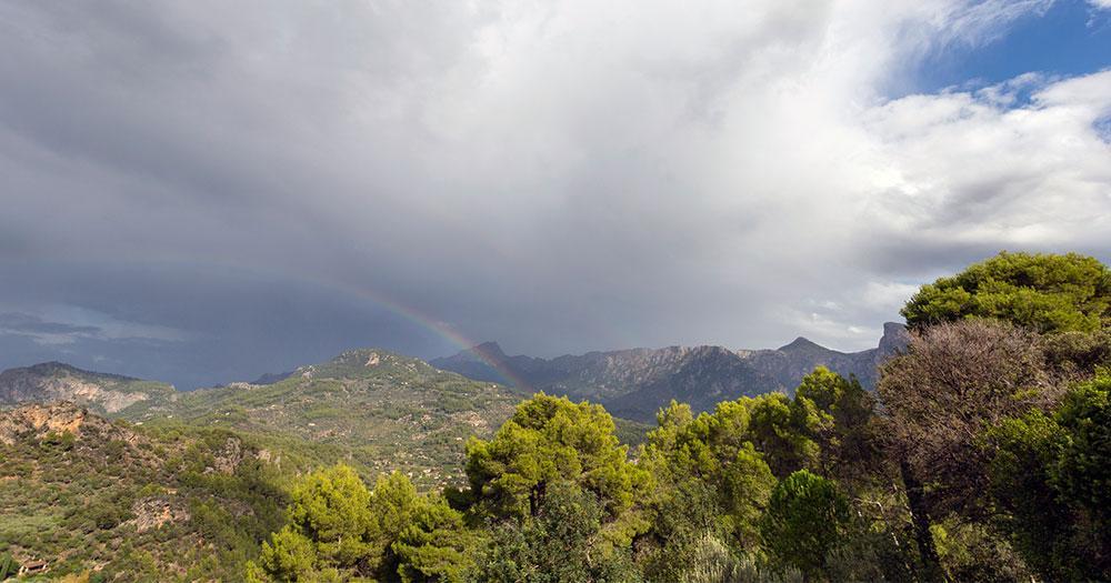 Puig Major auf Mallorca - Regenwolken