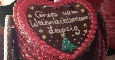Leipziger Weihnachtsmarkt -  Lebkuchenherz aus Leipzig