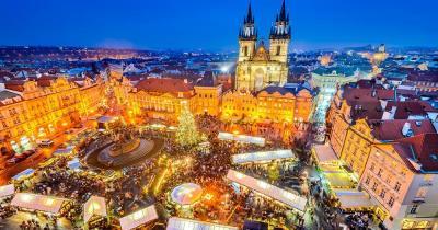 Prager Weihnachtsmarkt - Weihnachtsmarkt von oben