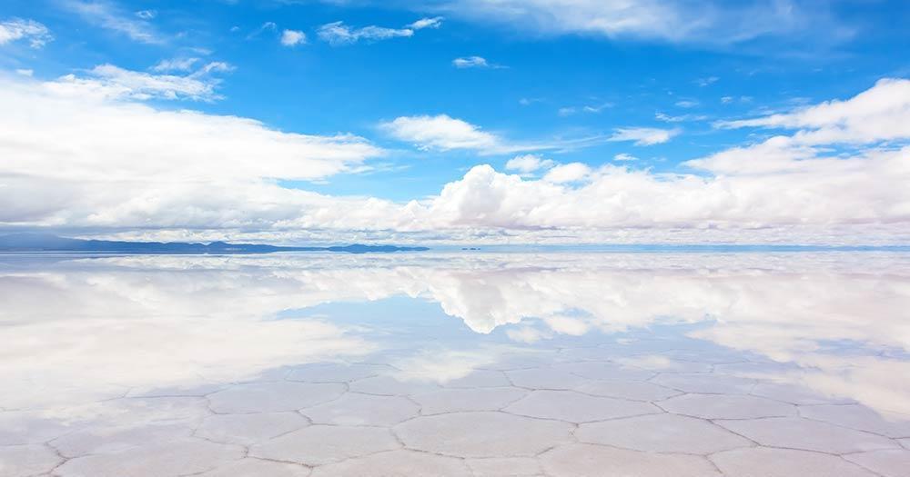 Der Salar de Uyuni - Der größte Salzsee der Welt - natürlicher Spiegel