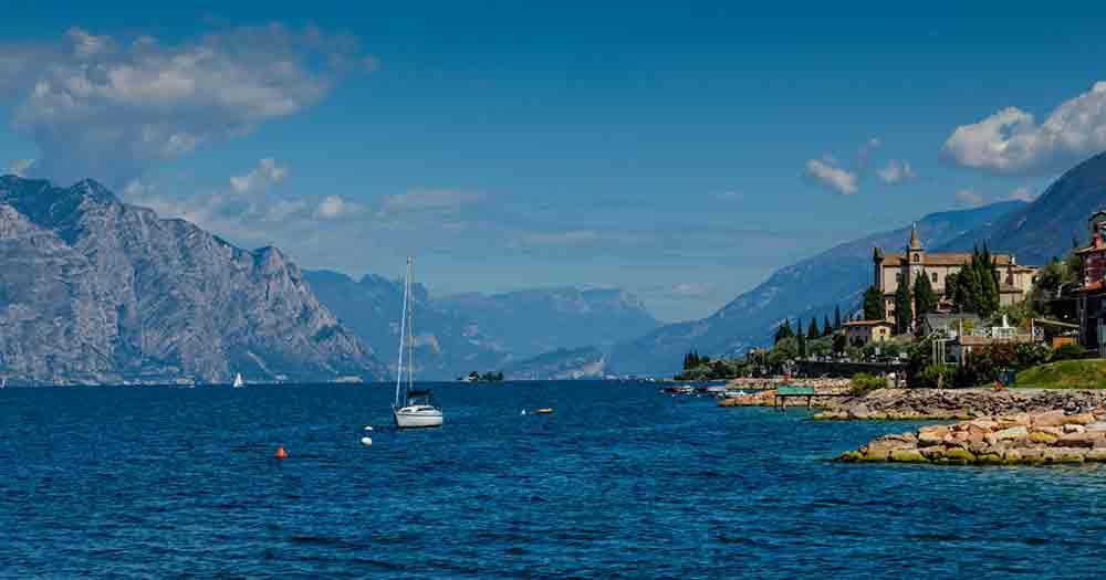 Gardasee - Blick vom Südufer