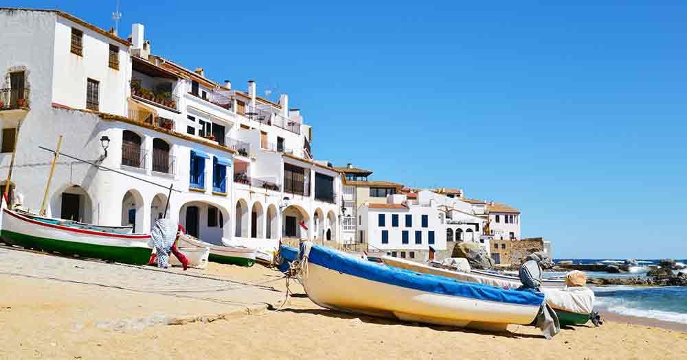 Costa Brava - Häuser am Meer