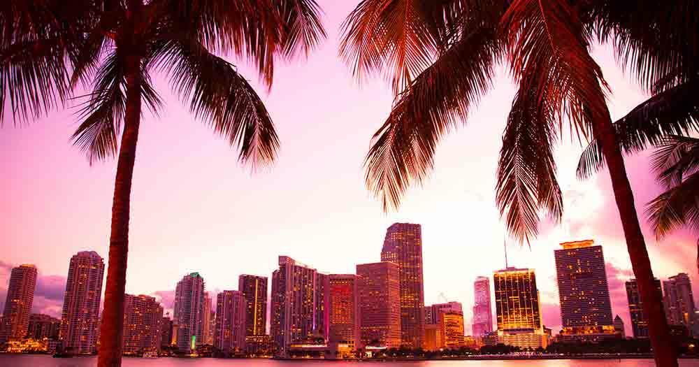 Miami - Die Skyline von Miami im herrlichen Licht