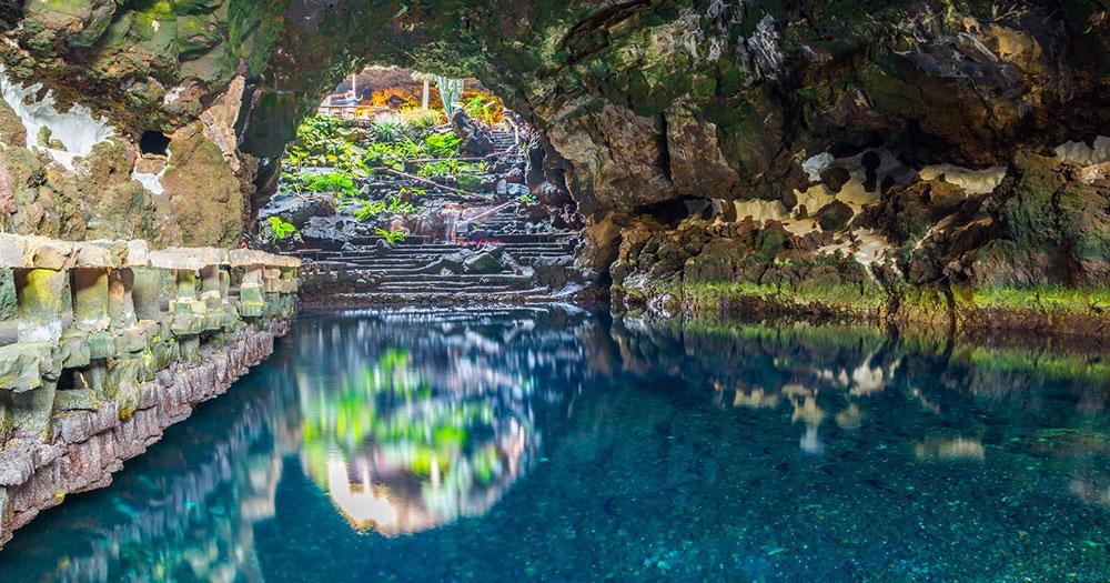 Lanzarote - die Höhle Jameos del Augua