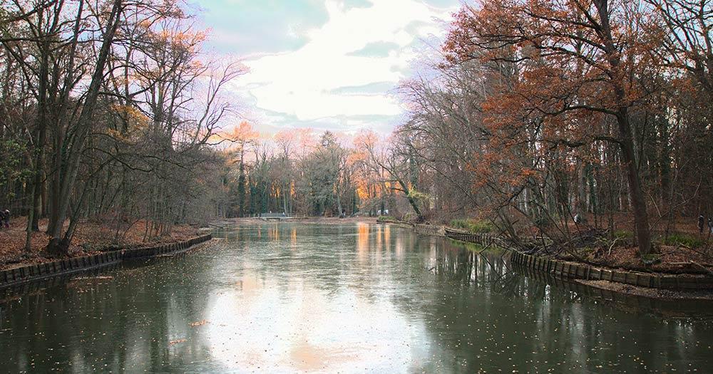 Stein - Die Stadt im Grünen - Faberwald vereister See