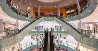 Reiseziel Dubai Mall - Rolltreppen