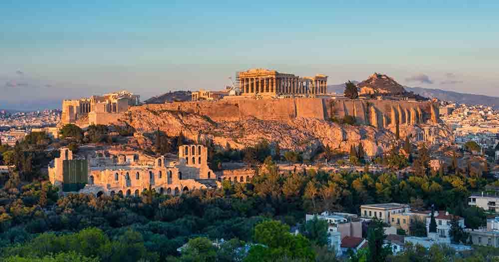 Athen - Blick auf die Ruinen der Stadt