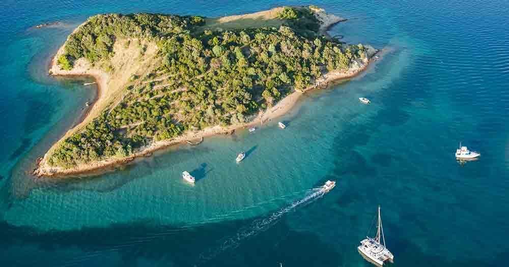 Rab - Blick von oben auf die Insel