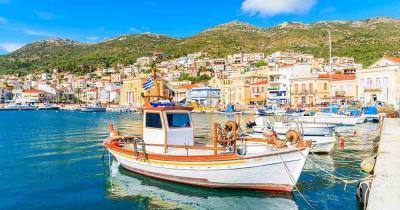 Kos - Blick auf das traumhafte Meer und auf die Boote