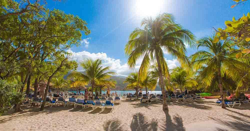 Haiti - Blick auf den traumhaften Strand