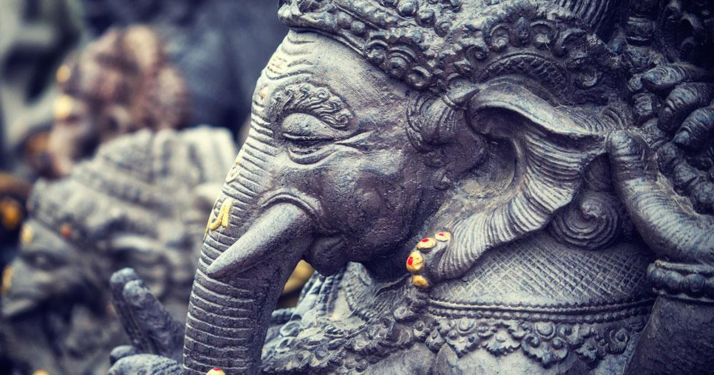 Bali - Altertümliche balinesische Statue