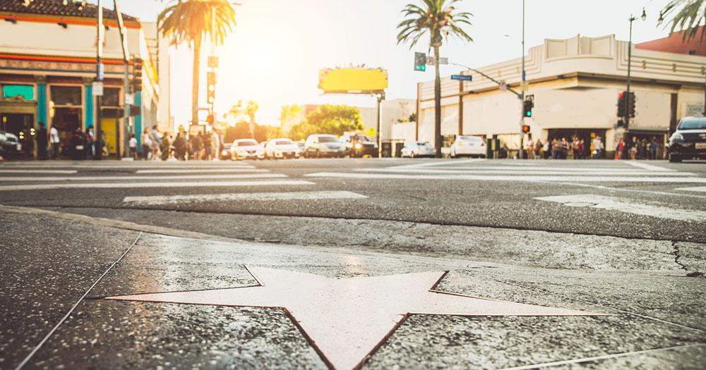 Kalifornien - Ein Stern am Walk of Fame in Hollywood