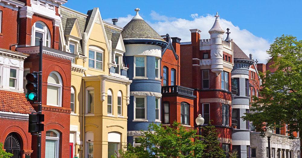 Washington D.C - Blick auf Stadthäuser