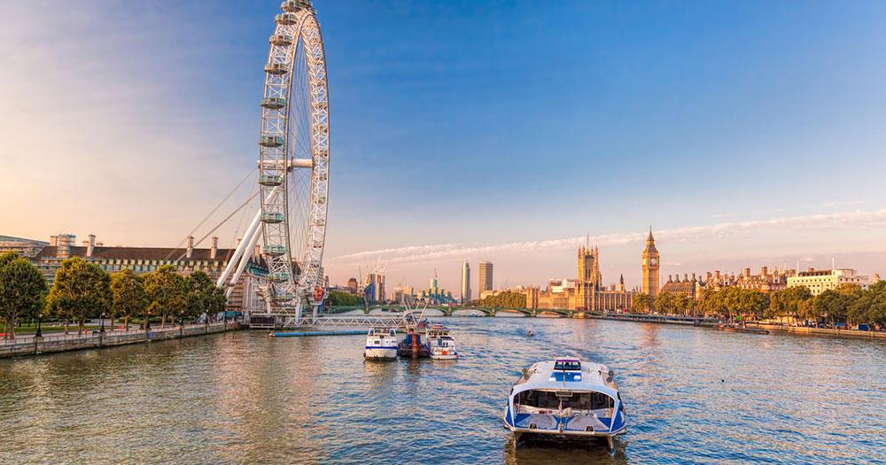 London - London Eye an der Themse