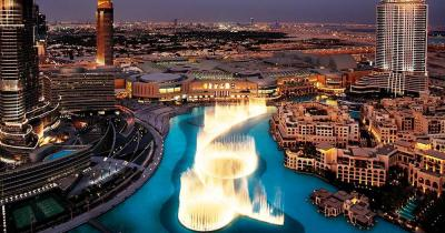 Reiseziel Wasserspiele von Dubai - Blick von oben