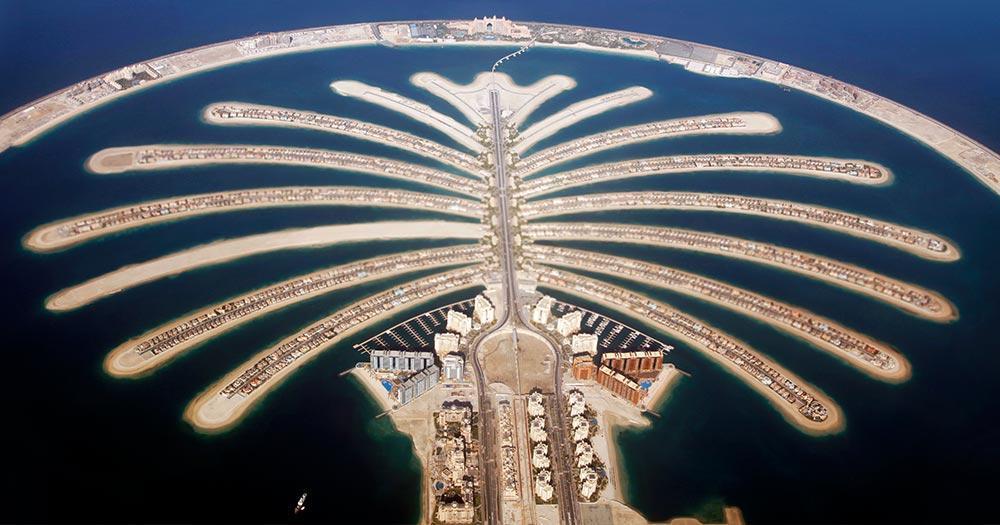 Reiseziel The Palm Jumeirah - Blick von oben