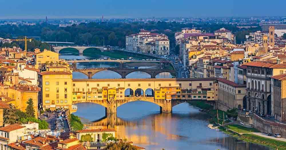 Toskana - Florenz im Abendlicht