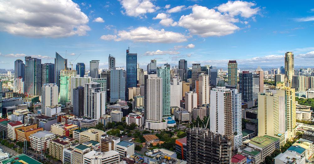 Manila - Die Skyline von Manila