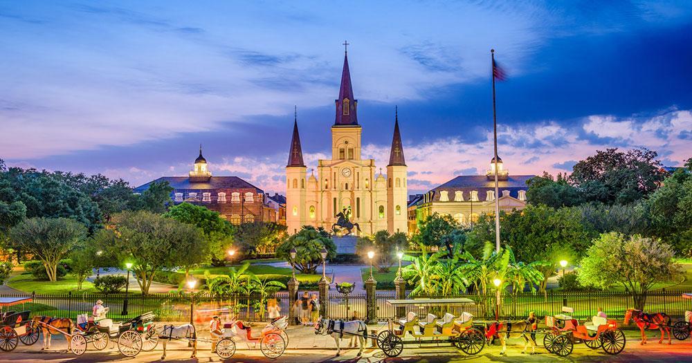 New Orleans - Die St. Louis Kathedrale von New Orleans auf dem Jackson Square