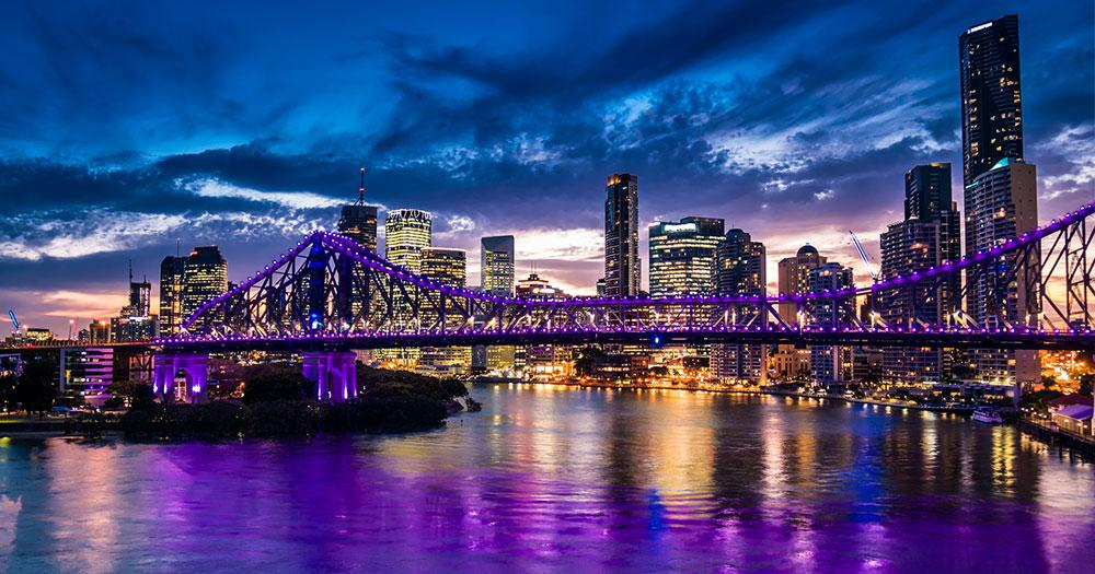Brisbane - Skylin bei Nacht