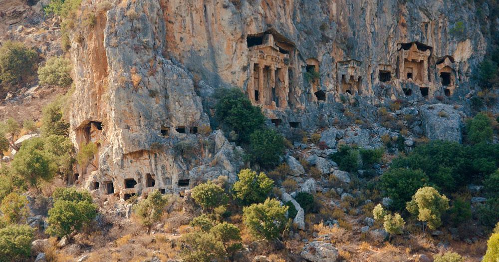 Fethiye - Felsengräber von der antiken Stadt Tlos