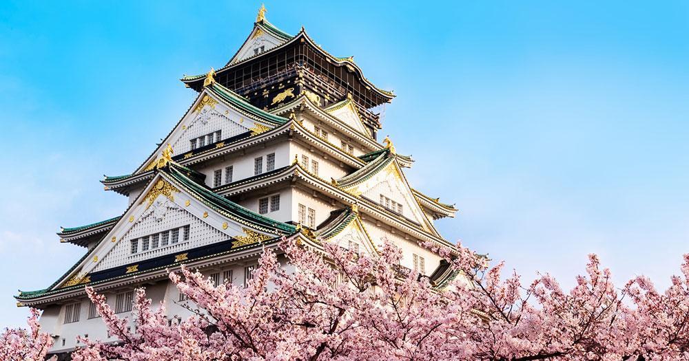 Osaka - Burg Osaka in Kirschblüte