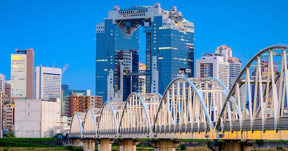 Osaka - Osaka River Skyline