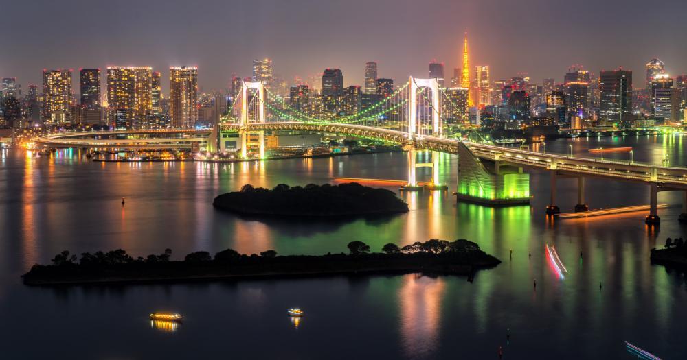 Tokio - Blick auf die Skyline bei Nacht