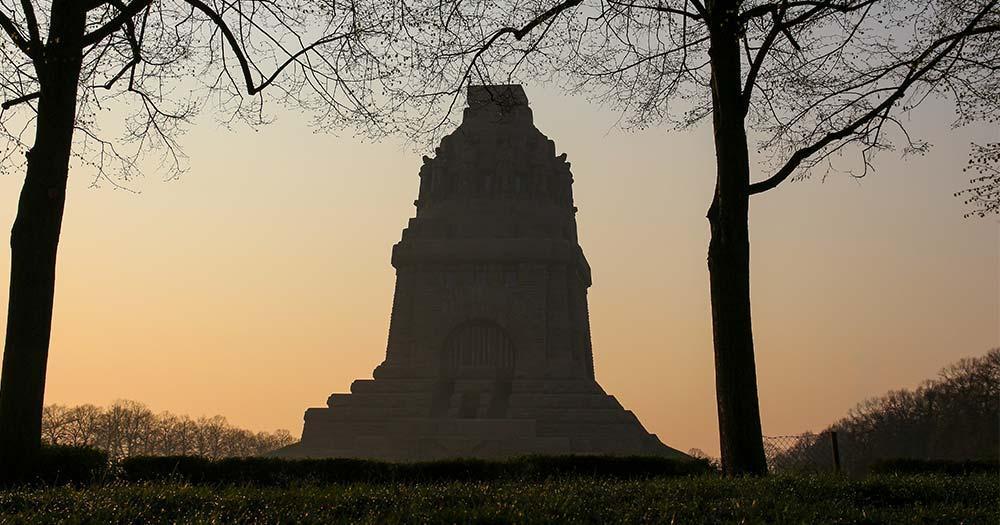Völkerschlachtdenkmal - im Abendlicht