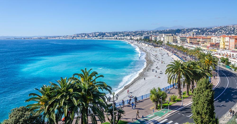 Nizza - Das blaue Meer vor Nizza