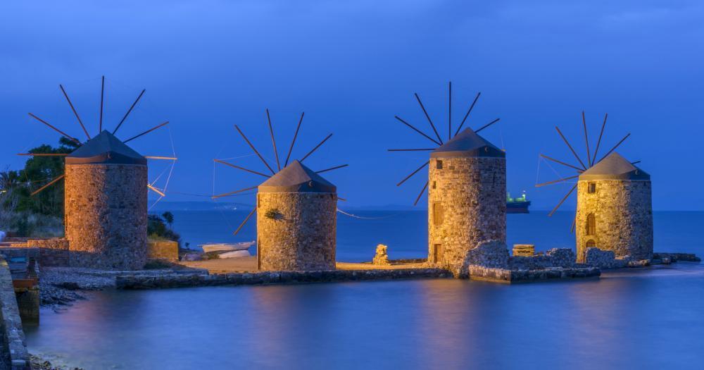 Cesme - Blick auf die Windmühlen