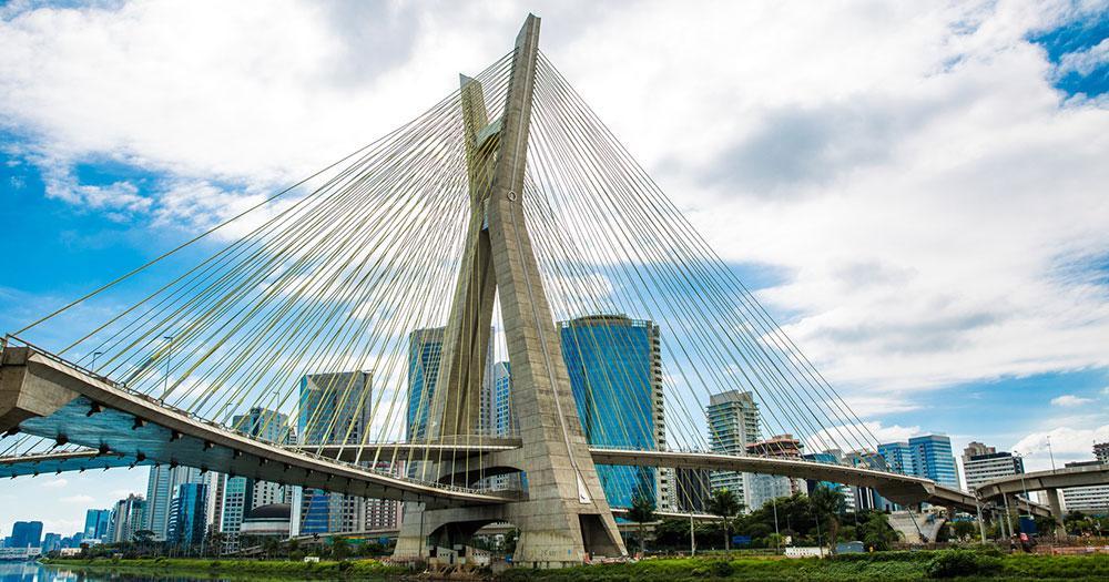 Sao Paulo - Estaiada Brücke in Sao Paulo