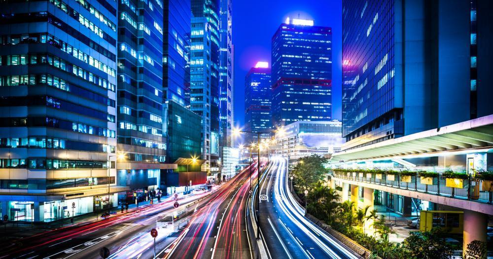 Hong Kong - Blick auf die Straßen