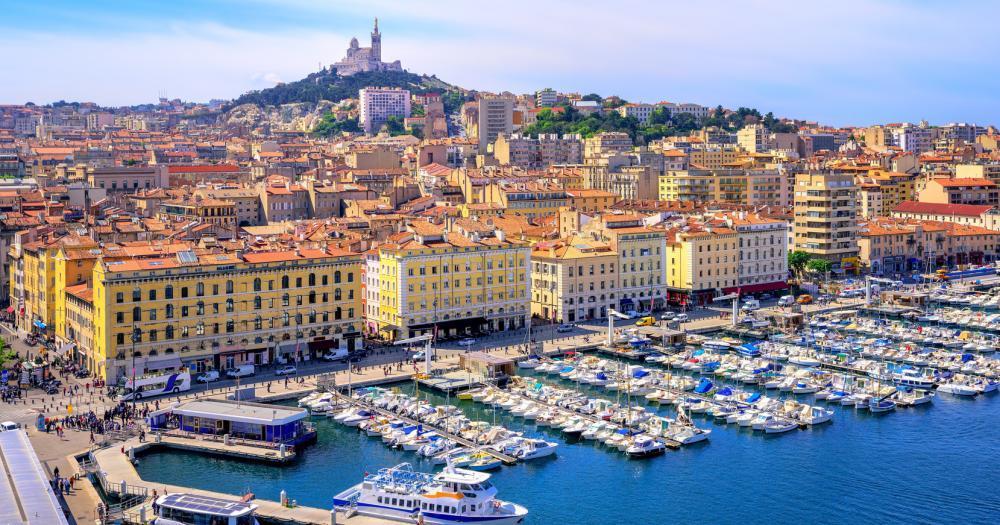 Marseille - Blick auf die Sykline