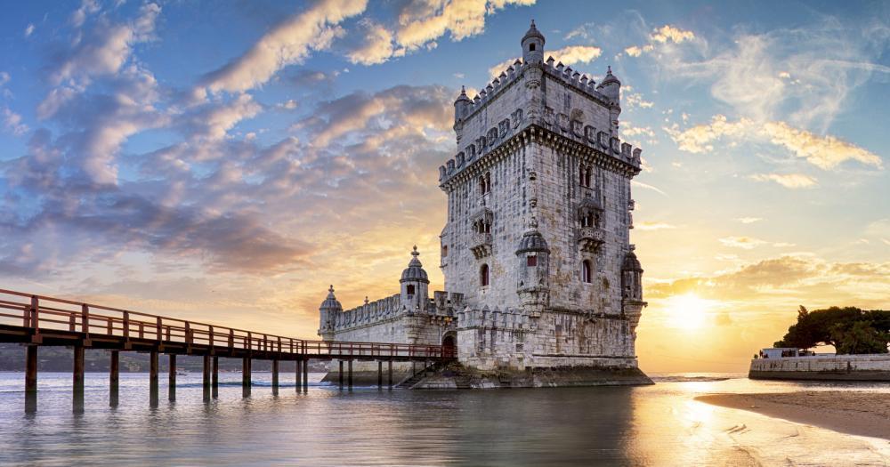 Lissabon - Burg an Strand von Lissabon