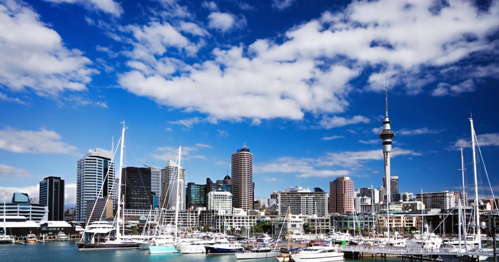 Auckland - Blick auf die Skyline