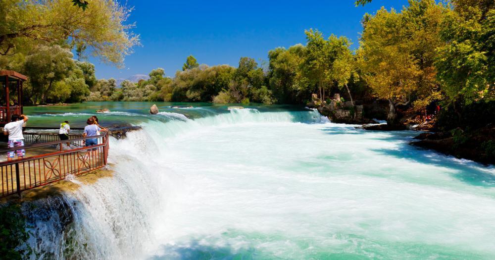 Side - Blick auf den Wasserfall