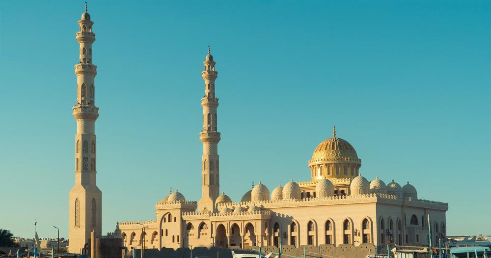 Hurghada - Blick auf die Aldahaar Moschee