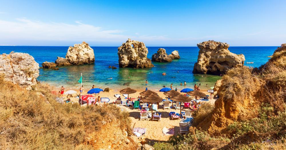 Algarve - Blick auf den Strand Praia dos Arrifes