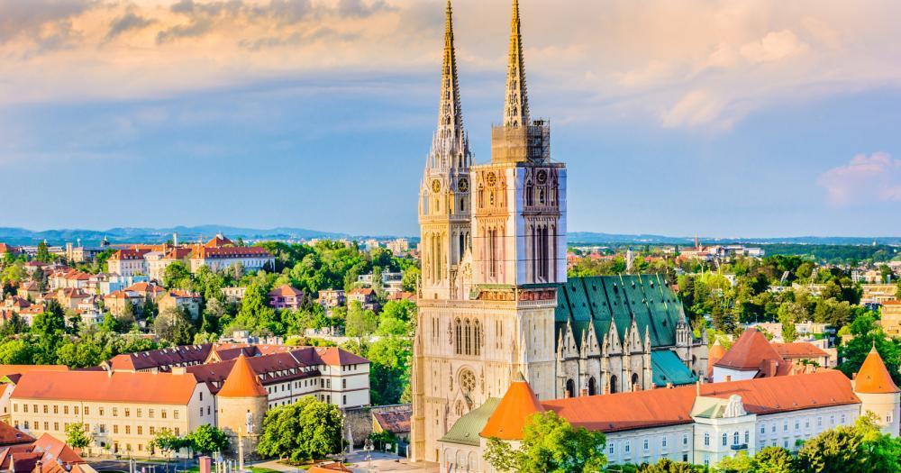 Zagreb - Blick auf die Kathedrale von Zagreb