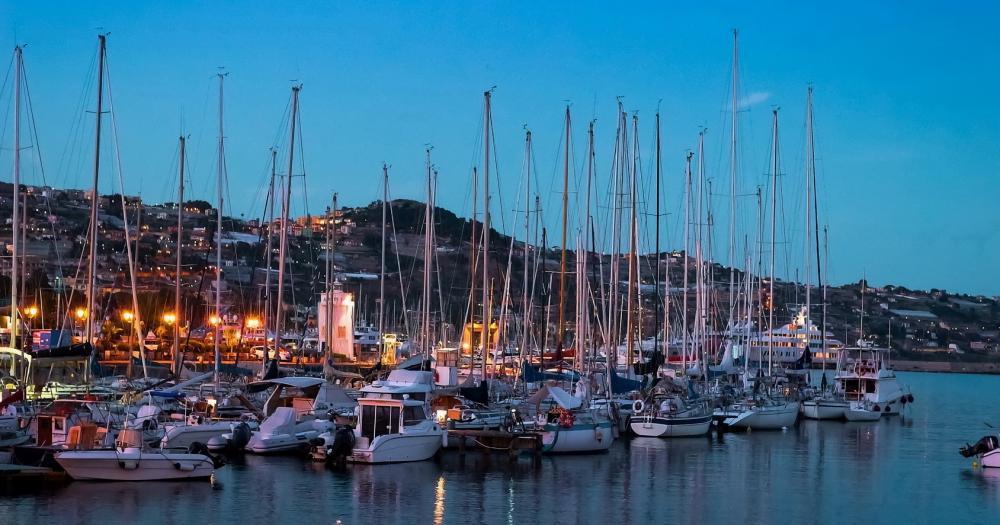 Sanremo - Blick auf den Hafen Porto Vecchio