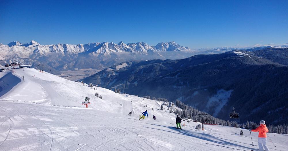 Saalbach Hinterglemm - Blick auf die Skipiste