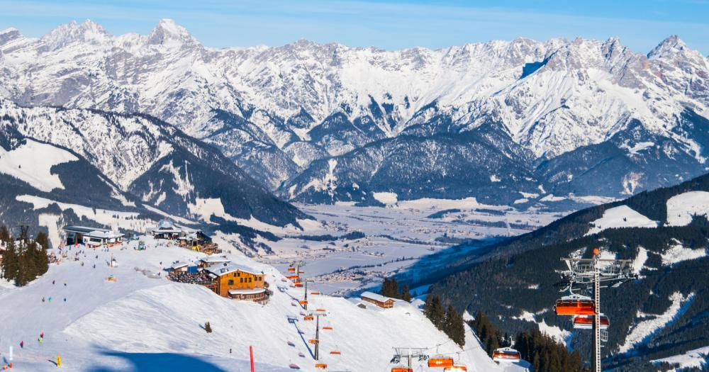 Leogang - Blick auf das Skigebiet