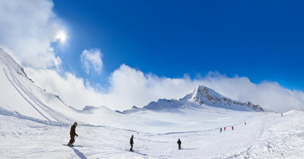 Kaprun - Blick auf die Ski Piste